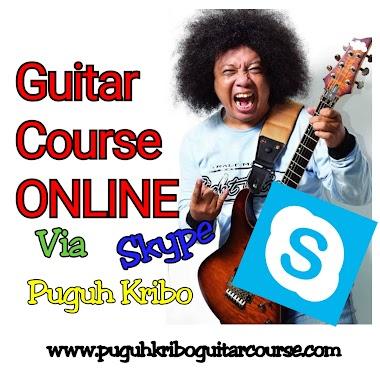 Puguh Kribo membuka kelas gitar Online -  Via Skype, WA,  Google class room