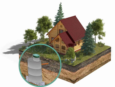 medidas recomendadas de fosas septica en casa de campo