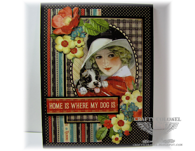 CraftyColonel Donna Nuce for Words 2 Craft by challenge, Graphic 45 Raining Cats and Dogs.