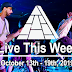 Live This Week: October 13th - 19th, 2019