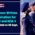 Common Written Examination for NDA 1 and NDA II  to be held on 06 Sept 2020