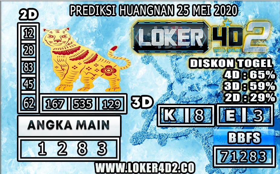 PREDIKSI TOGEL HUANGNAN LOKER4D2 25 MEI 2020