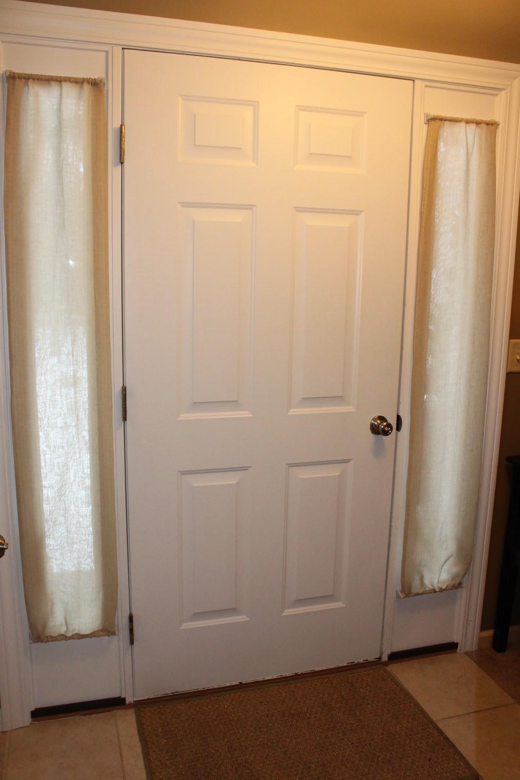 Handmade Happiness: Front Door Curtains