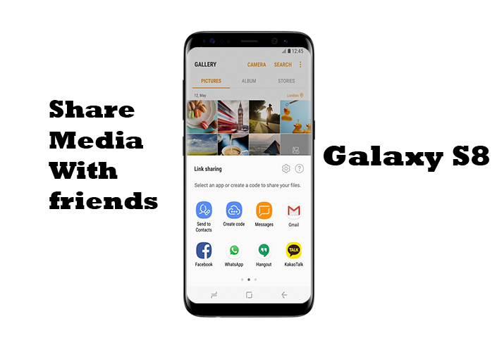 How to share Images or video with S8 Cloud and S8+ Cloud