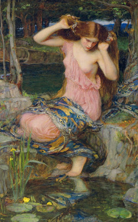 Lamia, by John William Waterhouse, 1909 ~ Oil on canvas, 91.5 x 57 cm