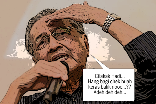 Dush! Mahathir kena pukulan kilas Hadi