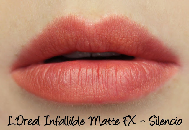 L'Oreal Infallible Matte FX - Silencio Swatches & Review