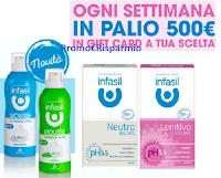 Con Infasil vinci subito 22 Gift Card da 500 euro a tua scelta fra benessere, viaggi e shopping