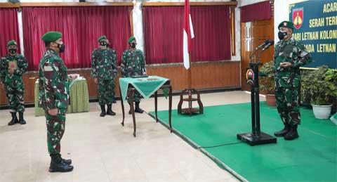 Acara Tradisi Satuan dan Laporan Korps Serah Terima Jabatan Dandim 0711/Pemalang