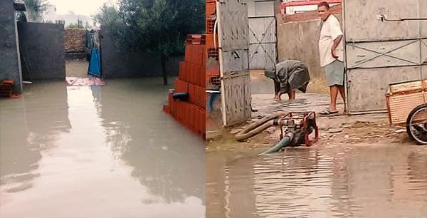 المهدية : مياه الأمطار تتسرّب إلى المنازل والمحلات