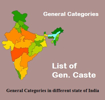 general caste list in up bihar rajasthan