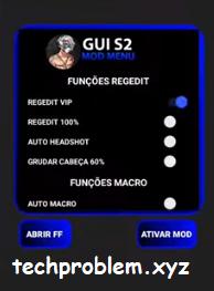 APK Regedit GUI S2 VIP Auto Macro Aimbot Aimlock Auto Headshoot Free Fire