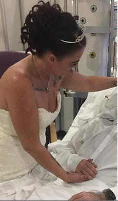 فتاة تتزوج من حبيبها قبل الموت