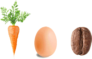 How To Respond To Trials - The Carrot, Egg & Coffee Lesson   Inspiration