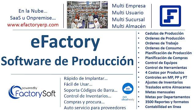 Software de Manufactura eFactory Producción