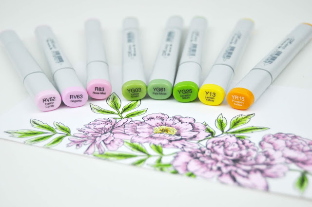 Copic Marker color sets and combination suggestions by Jen Gallacher for www.jengallacher.com #copic #markers #coloring #jengallacher