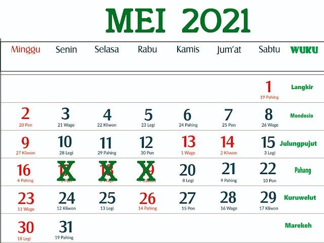 Cuti Bersama 2021 Dipotong 5 Hari dari 7 Hari, Ini Tanggal-Tanggalnya