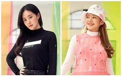 SNSD Yuri and Hyoyeon Le Coq Golf