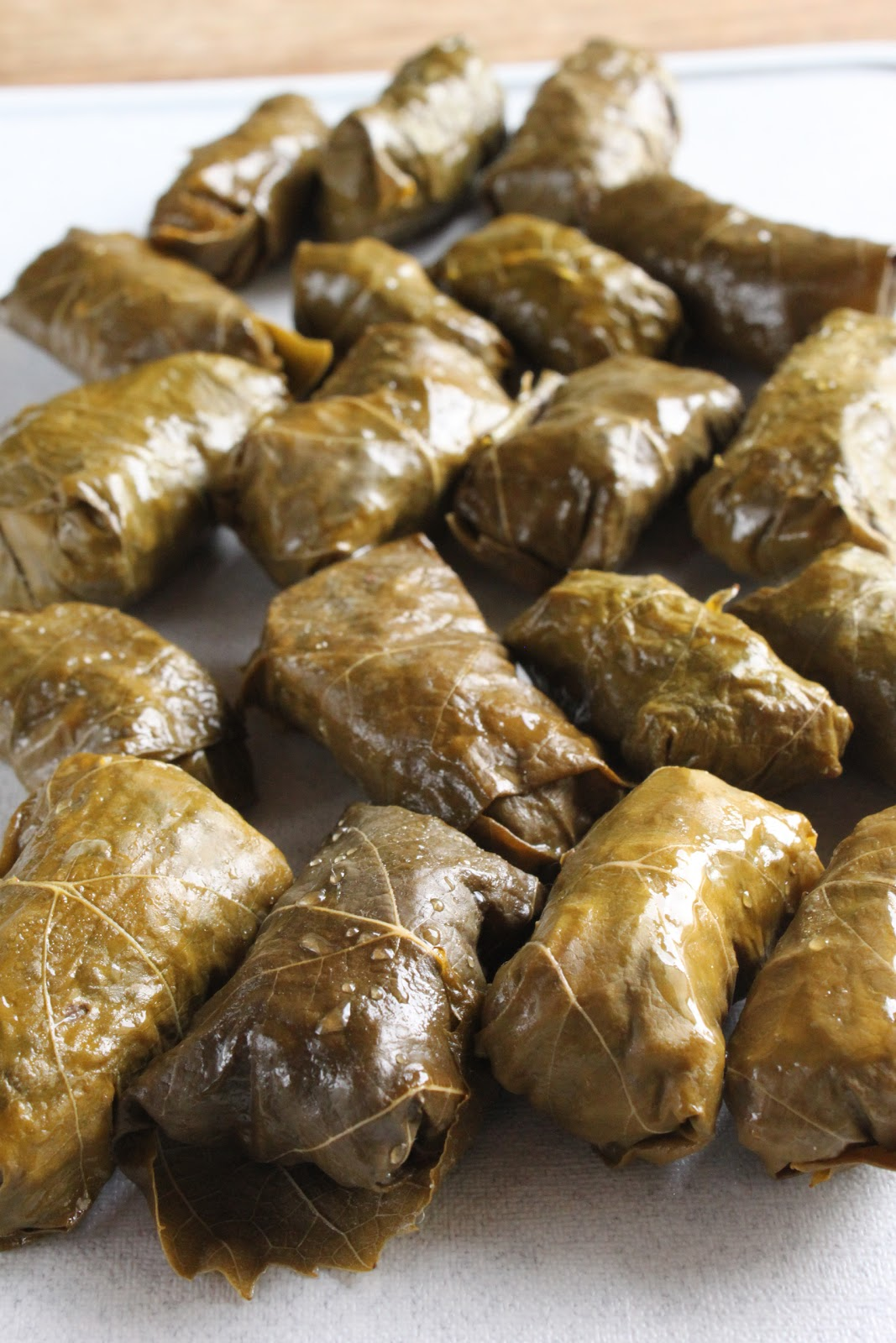 Lebanese Stuffed Grape Leaves With Lamb