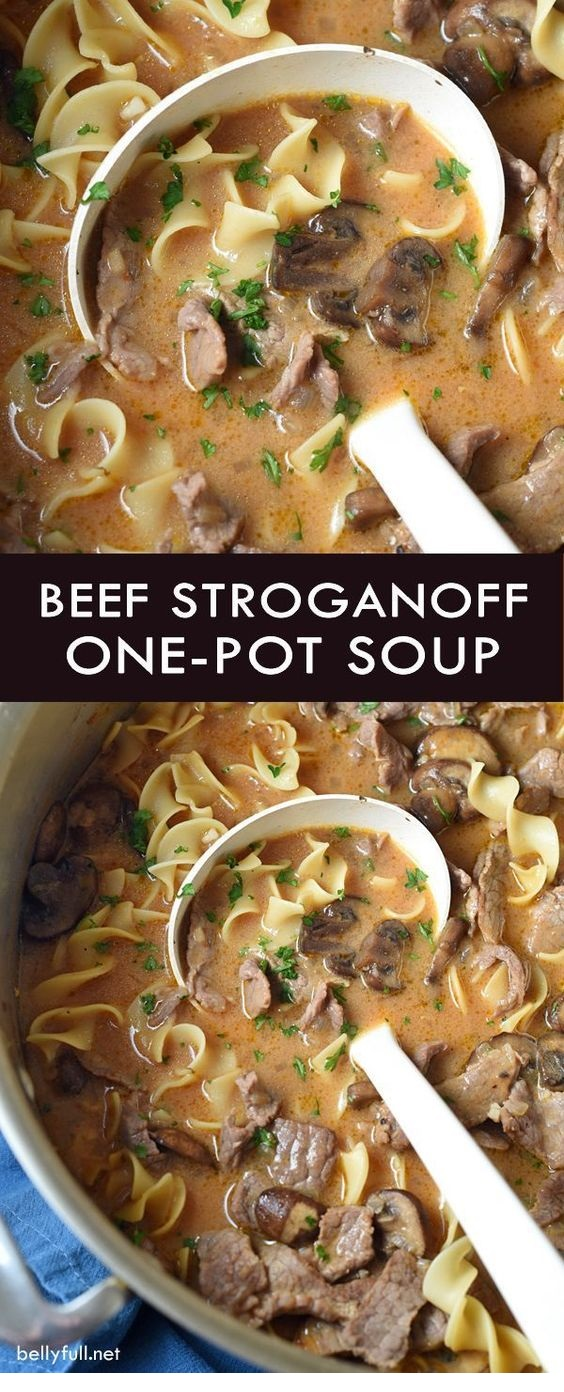 SOUP RECIPES | One-Pot Beef Stroganoff Soup