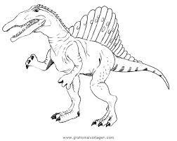 Malvorlagen Dinosaurier Spinosaurus X Claudia Schiffer