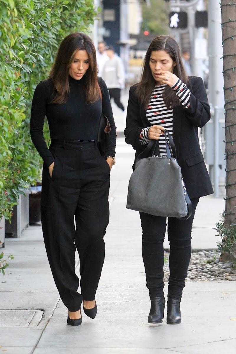 Eva Longoria, America Ferrera Clicked Outside in Beverly Hills 16 Jan-2020