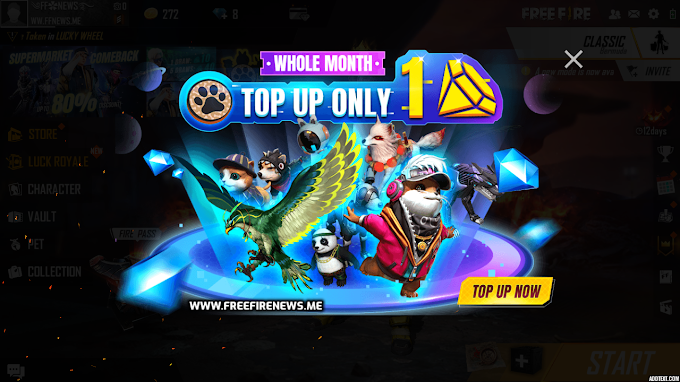 Top Up 1 Diamond And Get Any Pet For Free! Free Fire News