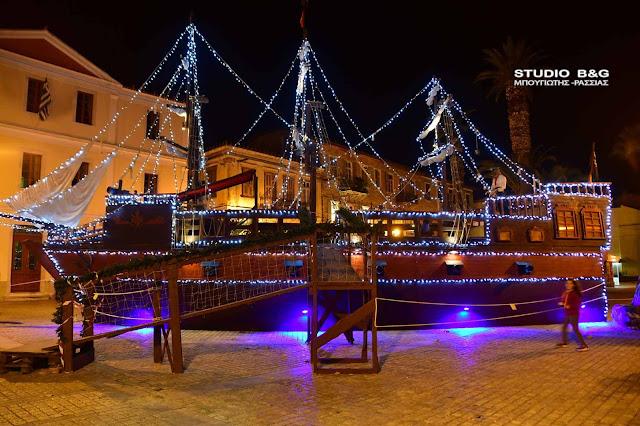 Πειρατικό καράβι στο Ναύπλιο για τα Χριστούγεννα