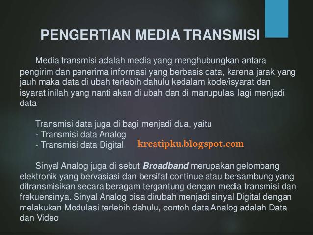 Pengertian dan Macam-macam Media Transmisi Jaringan