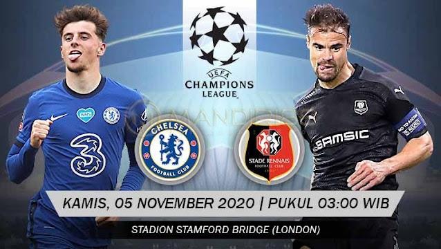 Prediksi Chelsea Vs Rennes, Kamis 05 November 2020 Pukul 03.00 WIB