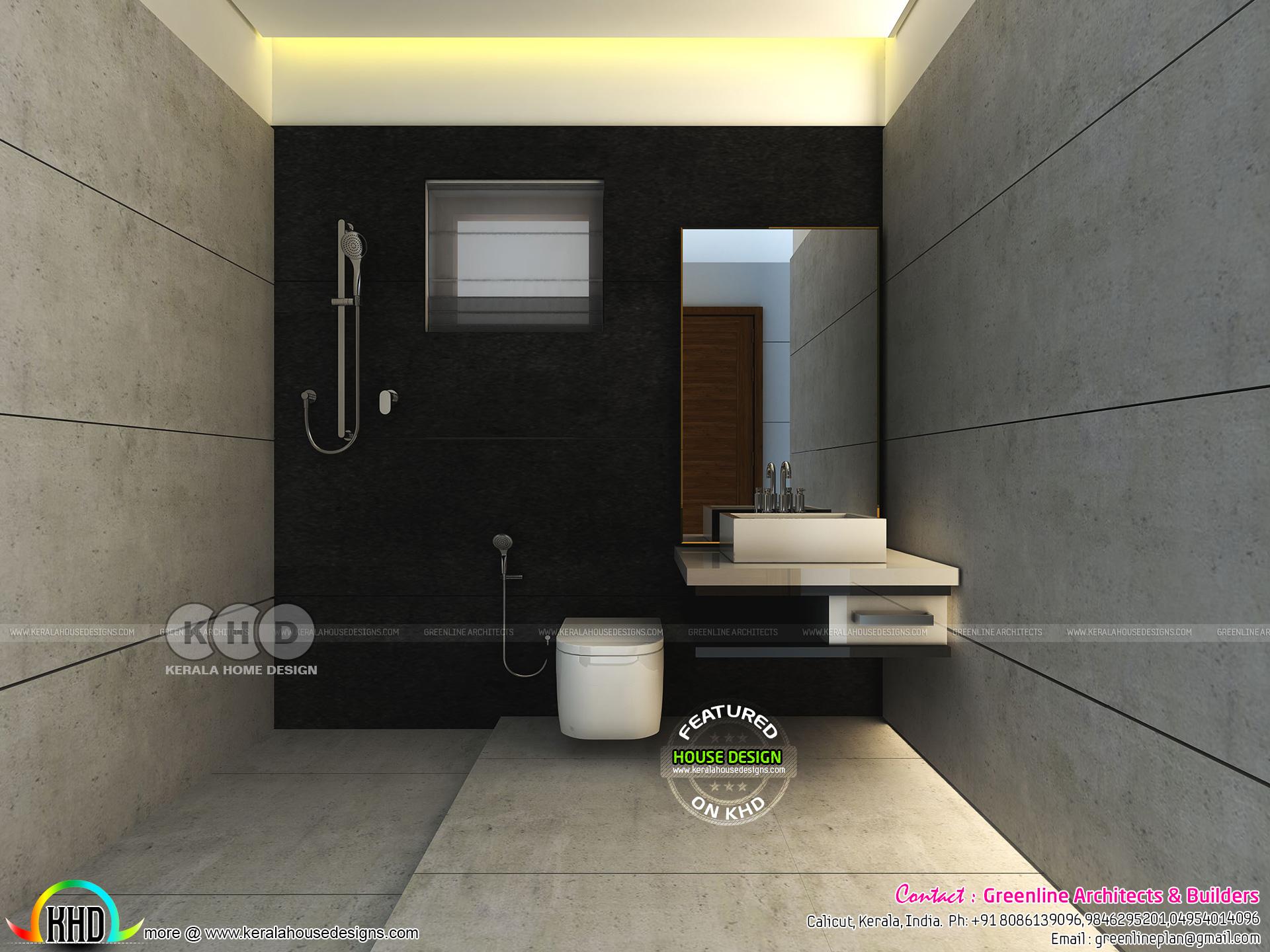 Modern bathroom interiors in Kerala - Kerala home design ...