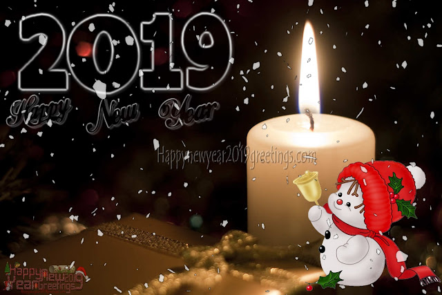 Happy New Year 2019 Ice Falling HD Background