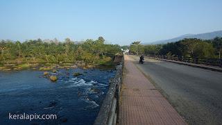 Vettilappara bridge across Chalakkudy River in Thrissur district, Kerala