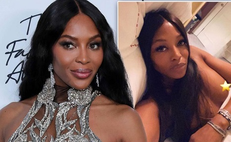 Naomi Campbell sends fans wild as she goes topless for X-rated bedroom selfie