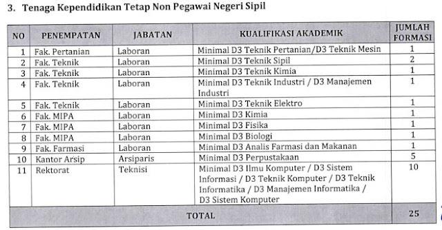 Penerimaan Calon Dosen Tetap dan Tenaga Kependidikan Tetap Non PNS Di Lingkungan Universitas Sumatera Utara Tahun 2017