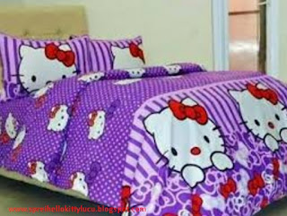 Jual Sprei Hello Kitty Dottie Viena Ungu