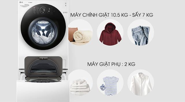 Máy giặt LG FG1405H3W & TG2402NTWW