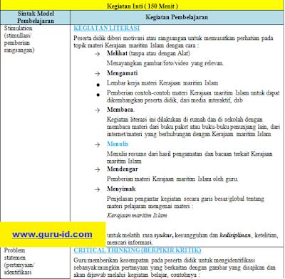 gambar RPP Sejarah Perminatan Kurikulum 2013 kelas 11 Revisi 2018