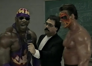 WCW UNCENSORED 1996 - Booker T and Sting teamed up to face The Road Warriors