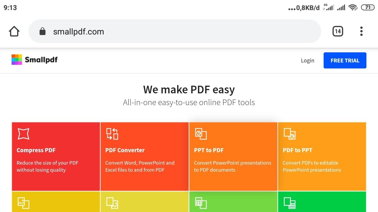 Cara Kompres File PDF di Smallpdf