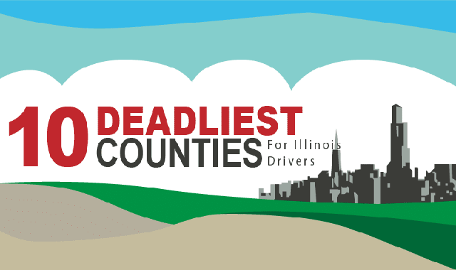10 Deadliest Counties For Illinois Drivers #infographic