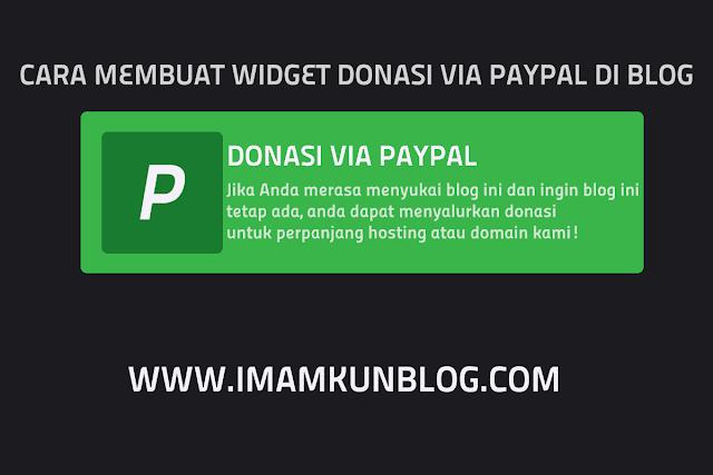 Cara Membuat Tombol Donasi Paypal Responsive di Blog Terbaru