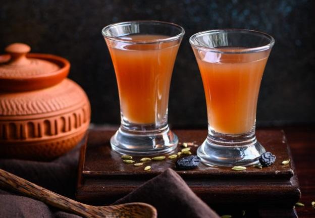 Method of action of raisin juice