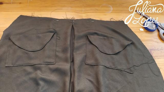 saia calça vintage 1940s pregas