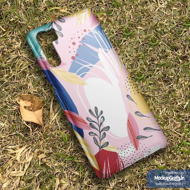 Mockup Gratis Custom Case 3D Oppo F15