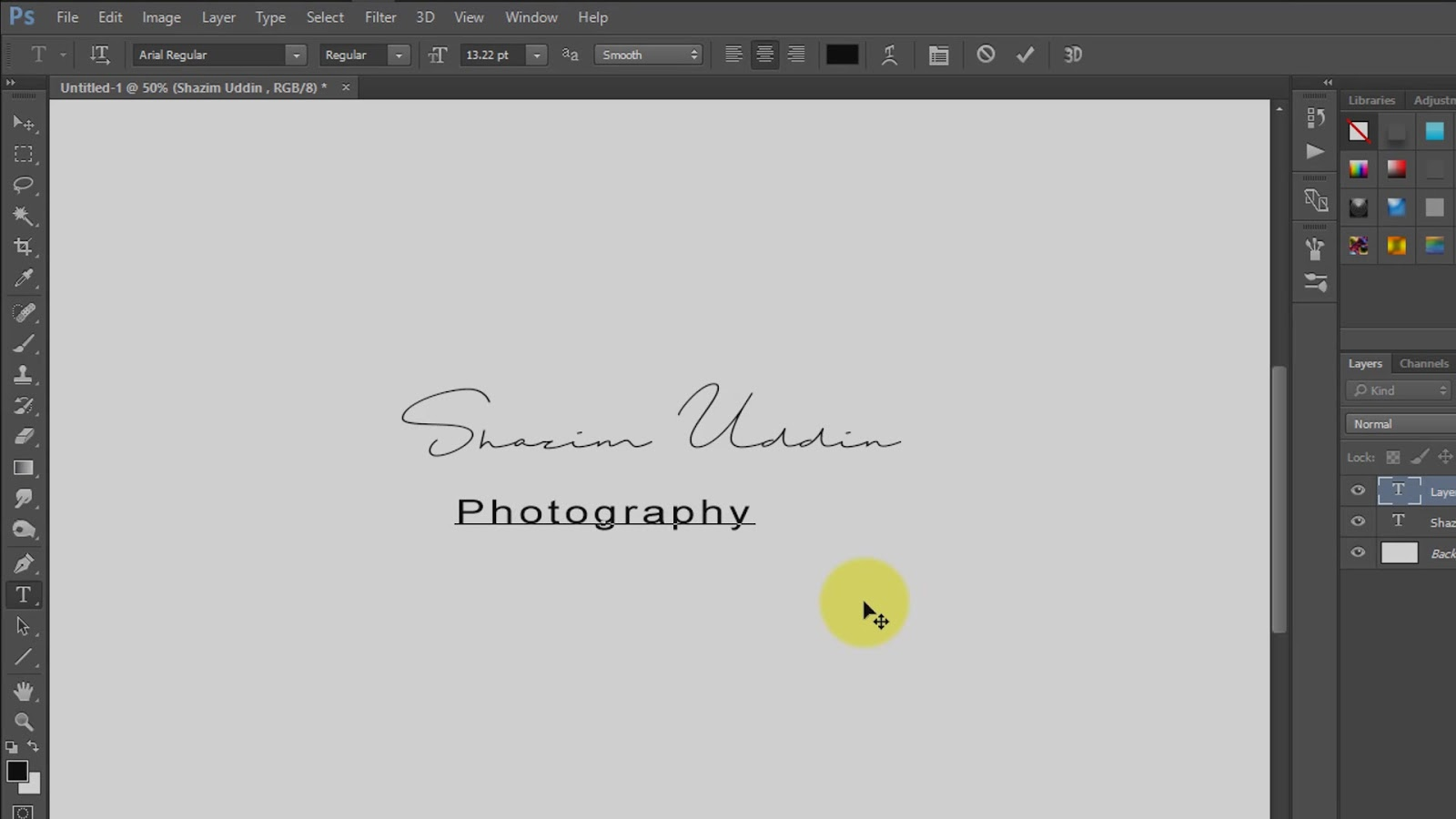 how to create own signature logo for photography screenshot 1