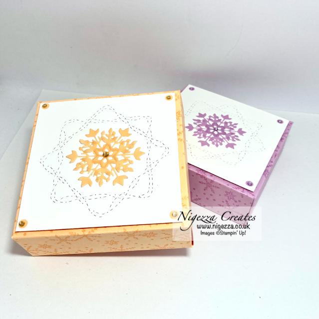 Fold Flat Snowflake Gift Box