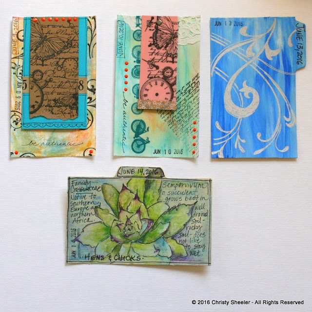 ICAD 2016:  Cards 7 - 10 by Christy Sheeler