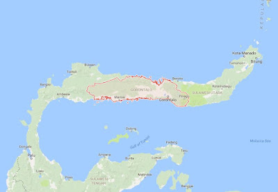 Peta Wilayah Provinsi Gorontalo