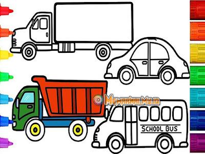 Gambar Mewarnai Kendaraan Darat